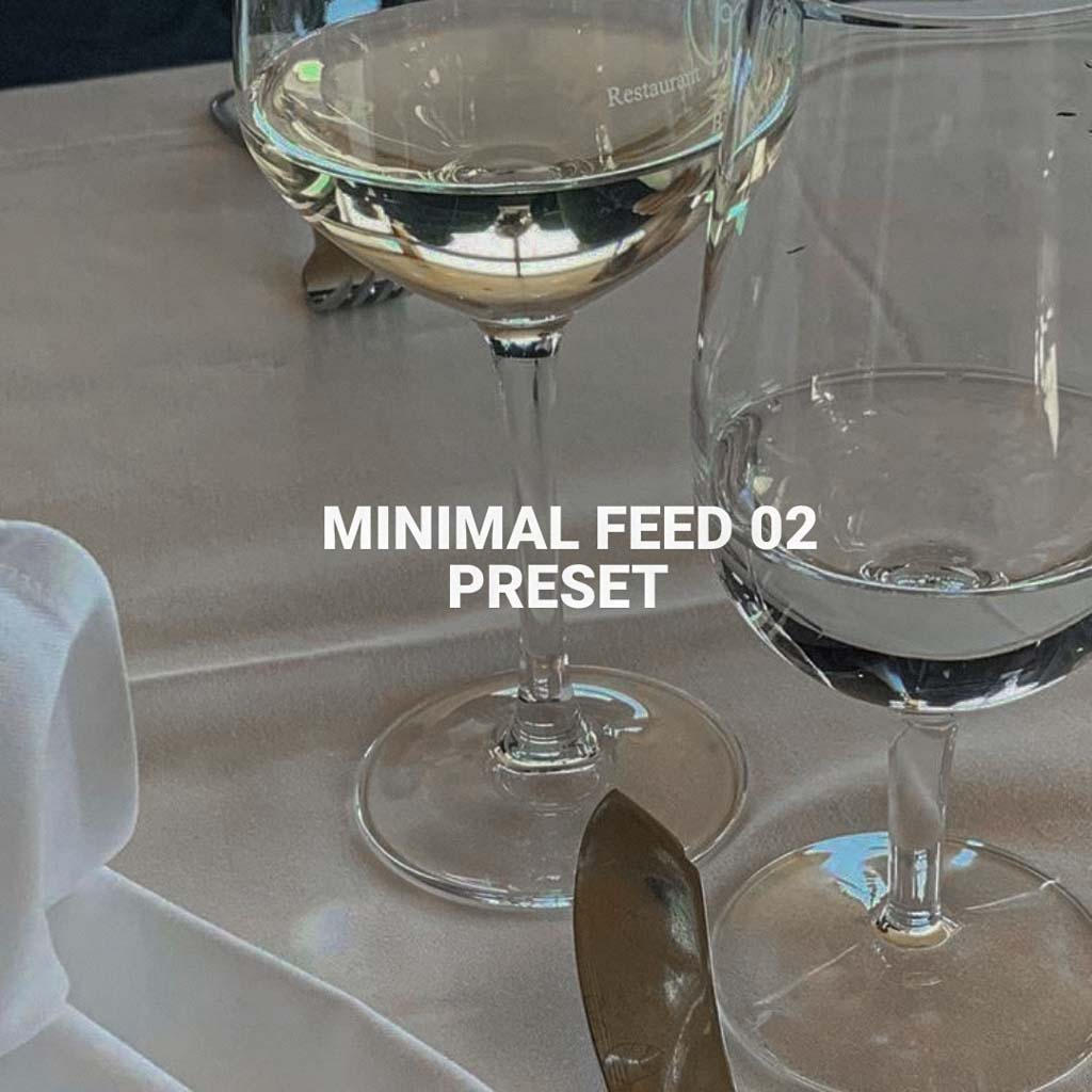 Minimal Feed 02 preset Lightroom Preset