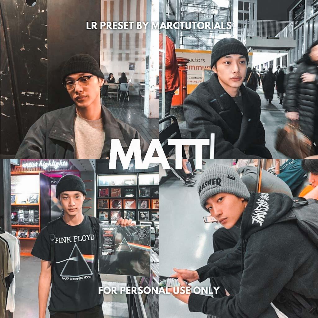 Matt Black Brown Preset Lightroom Preset
