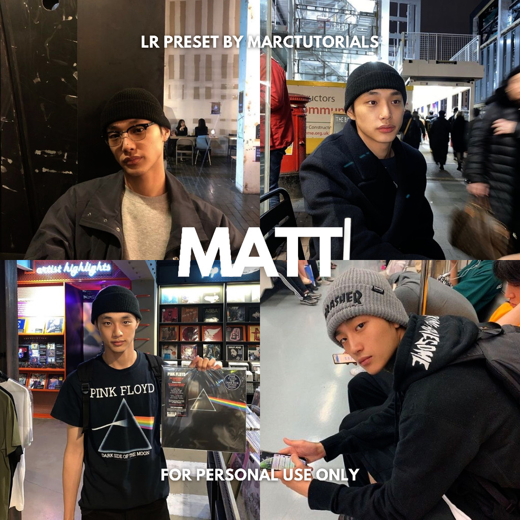 Matt Black Brown Preset- Lightroom Preset