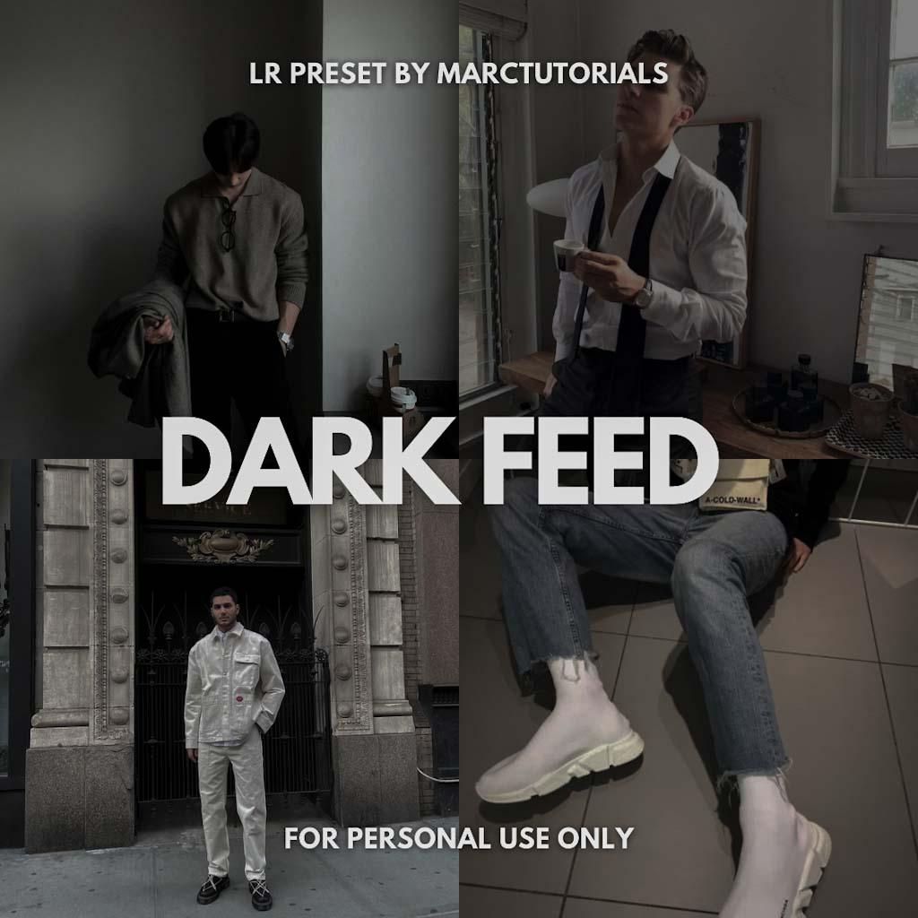 Dark Feed Preset - Lightroom Mobile Aesthetic Dark Lightroom Preset