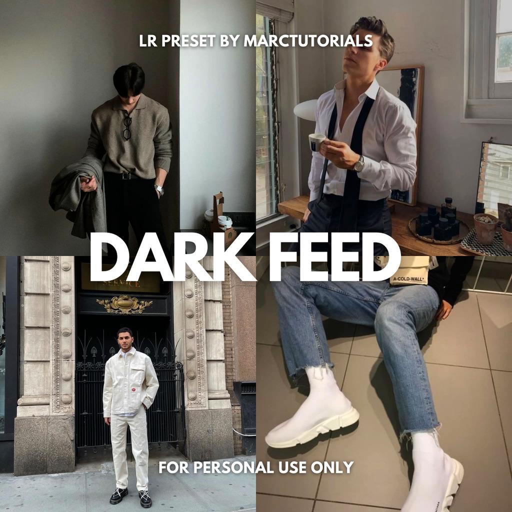 Dark Feed Preset - Lightroom Mobile Aesthetic Dark- Lightroom Preset