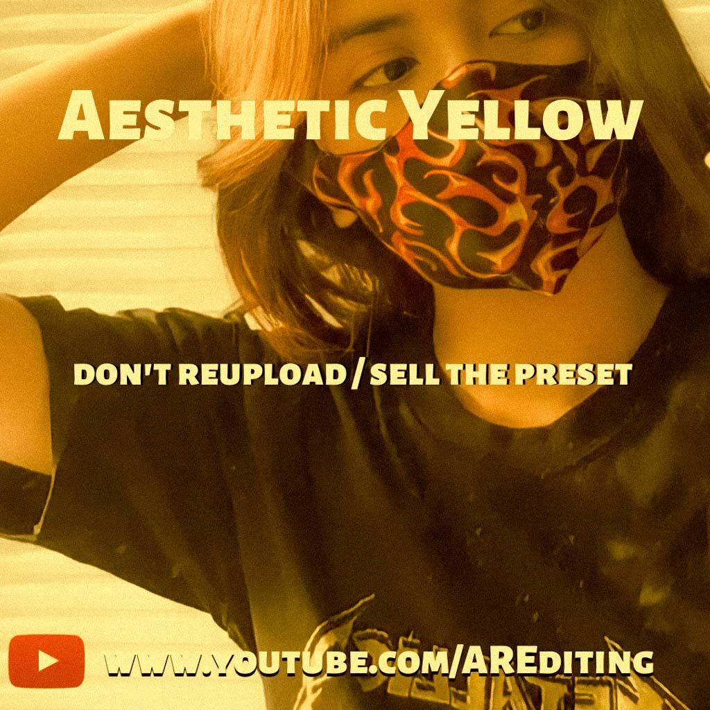 Aesthetic Yellow Presets! Lightroom Preset