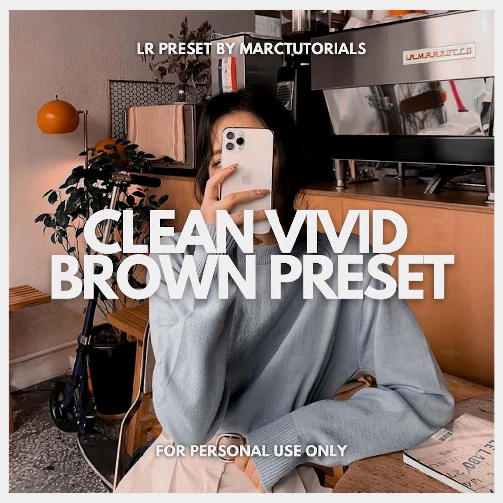 Clean Vivid Brown Lightroom Preset- Lightroom Preset
