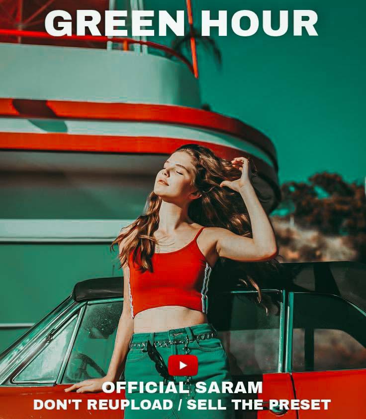 Green hour preset! Lightroom Preset