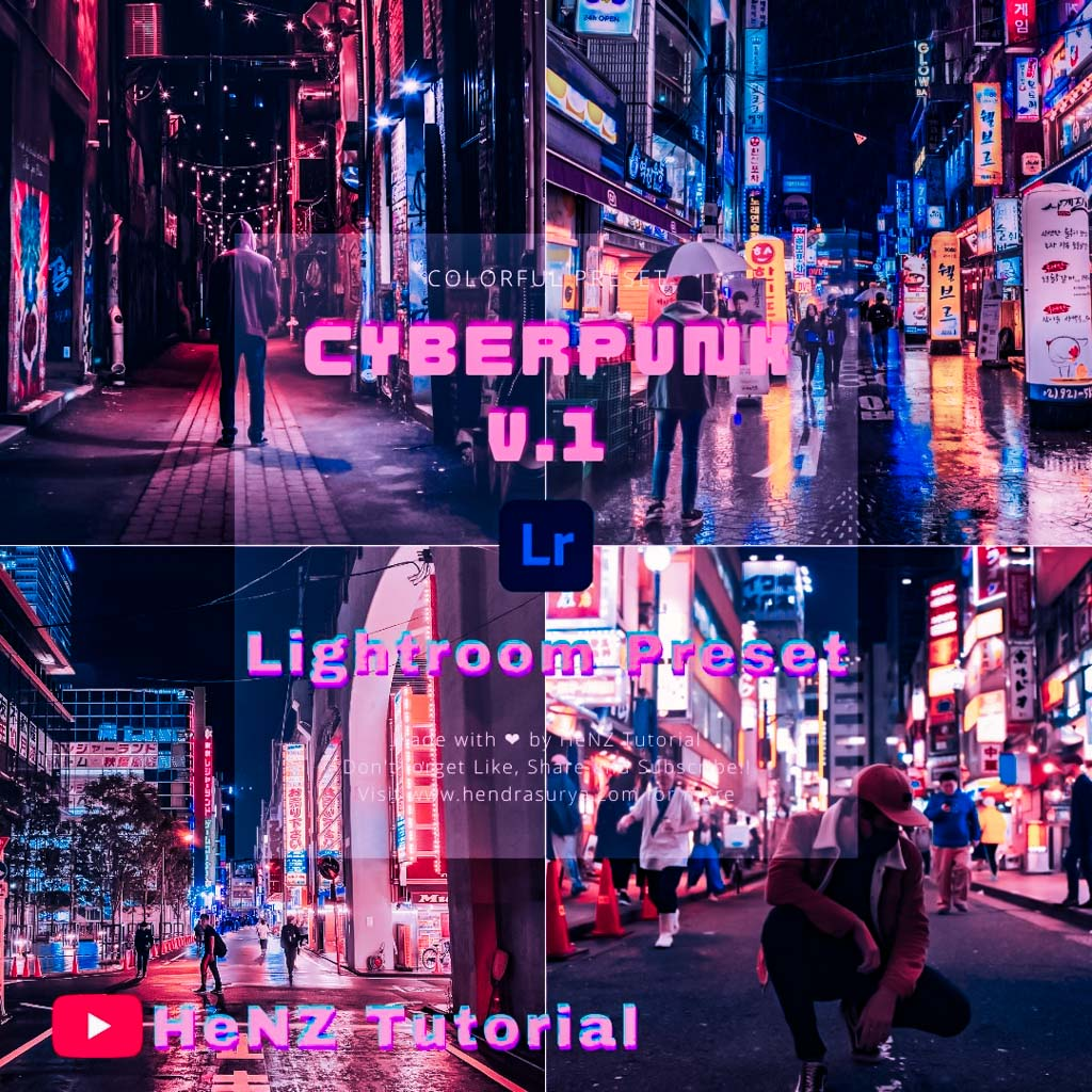 Cyberpunk V.1 Lightroom Preset Lightroom Preset