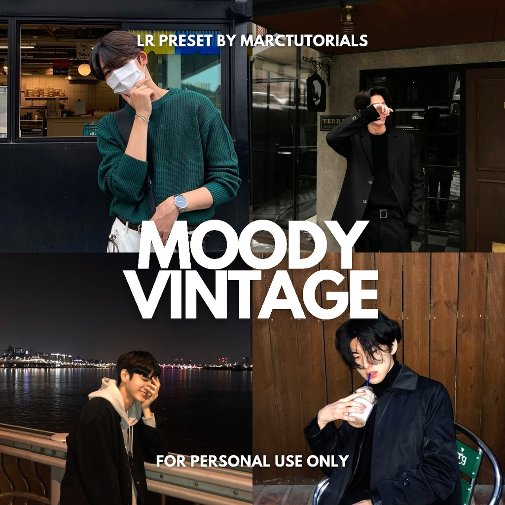 Moody Vinatge Preset - Lightroom Mobile Aesthetic - Lightroom Preset