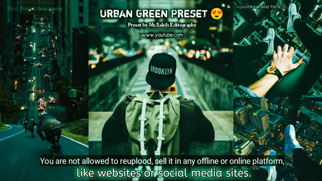 Urban Green Tone Preset � Lightroom Preset
