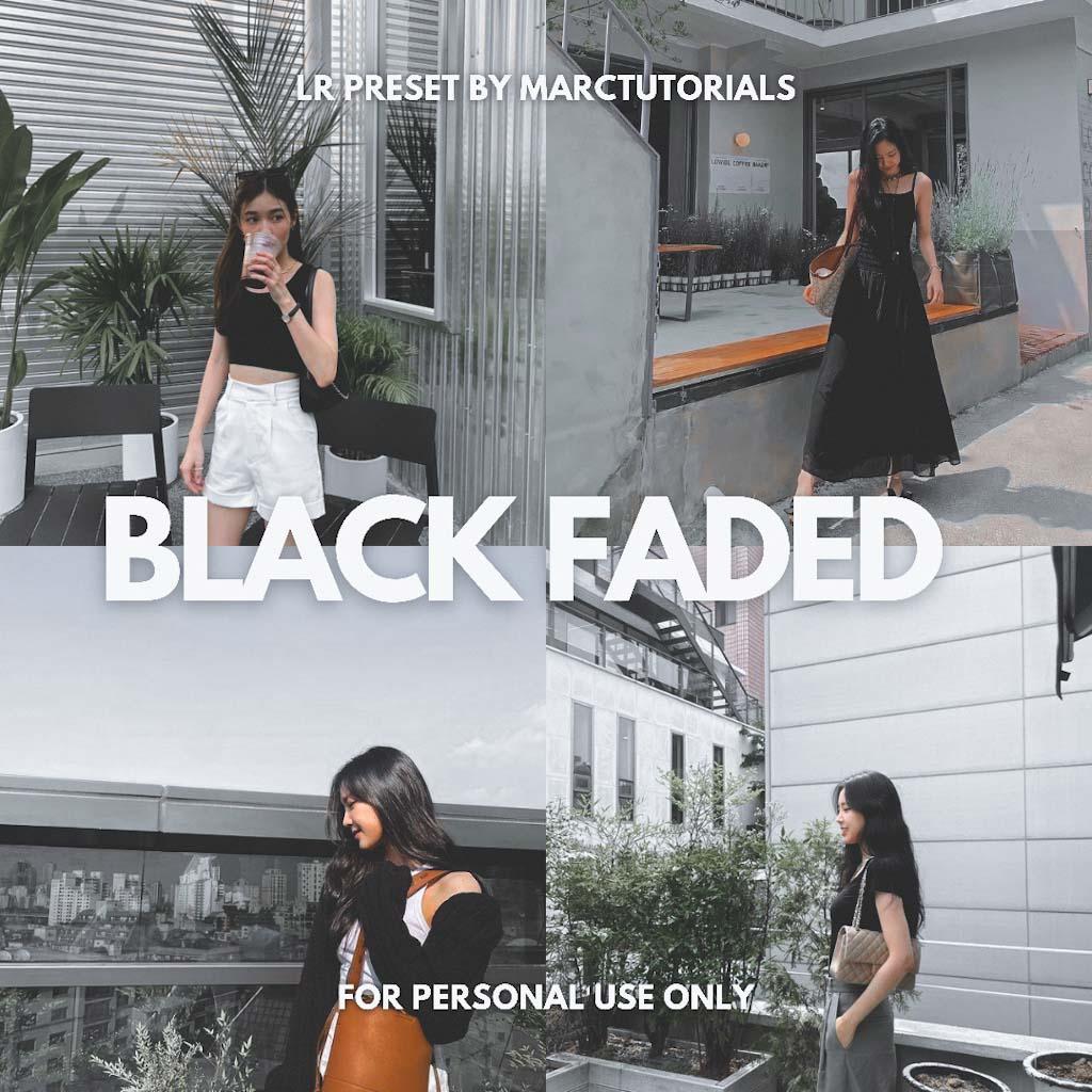 Black Faded Preset - Lightroom Mobile Aesthetic Bl Lightroom Preset