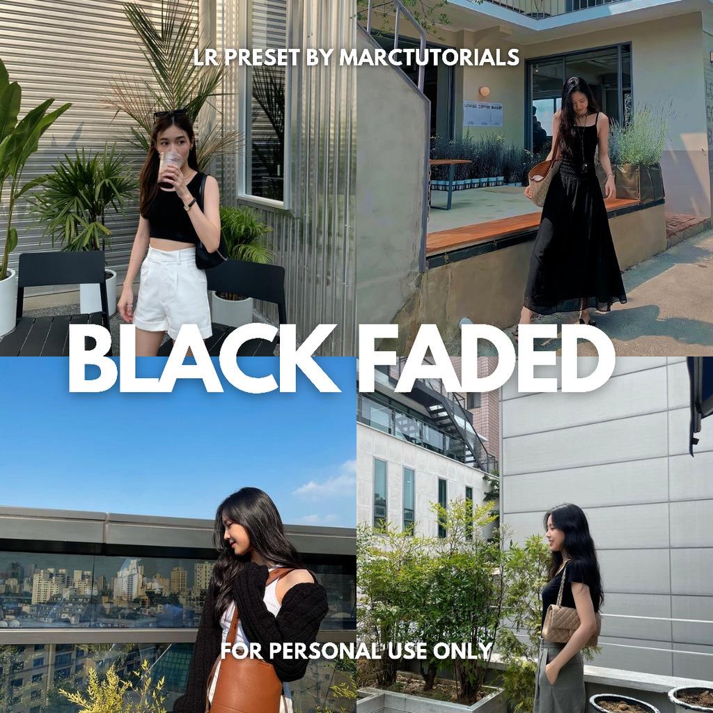 Black Faded Preset - Lightroom Mobile Aesthetic Bl- Lightroom Preset