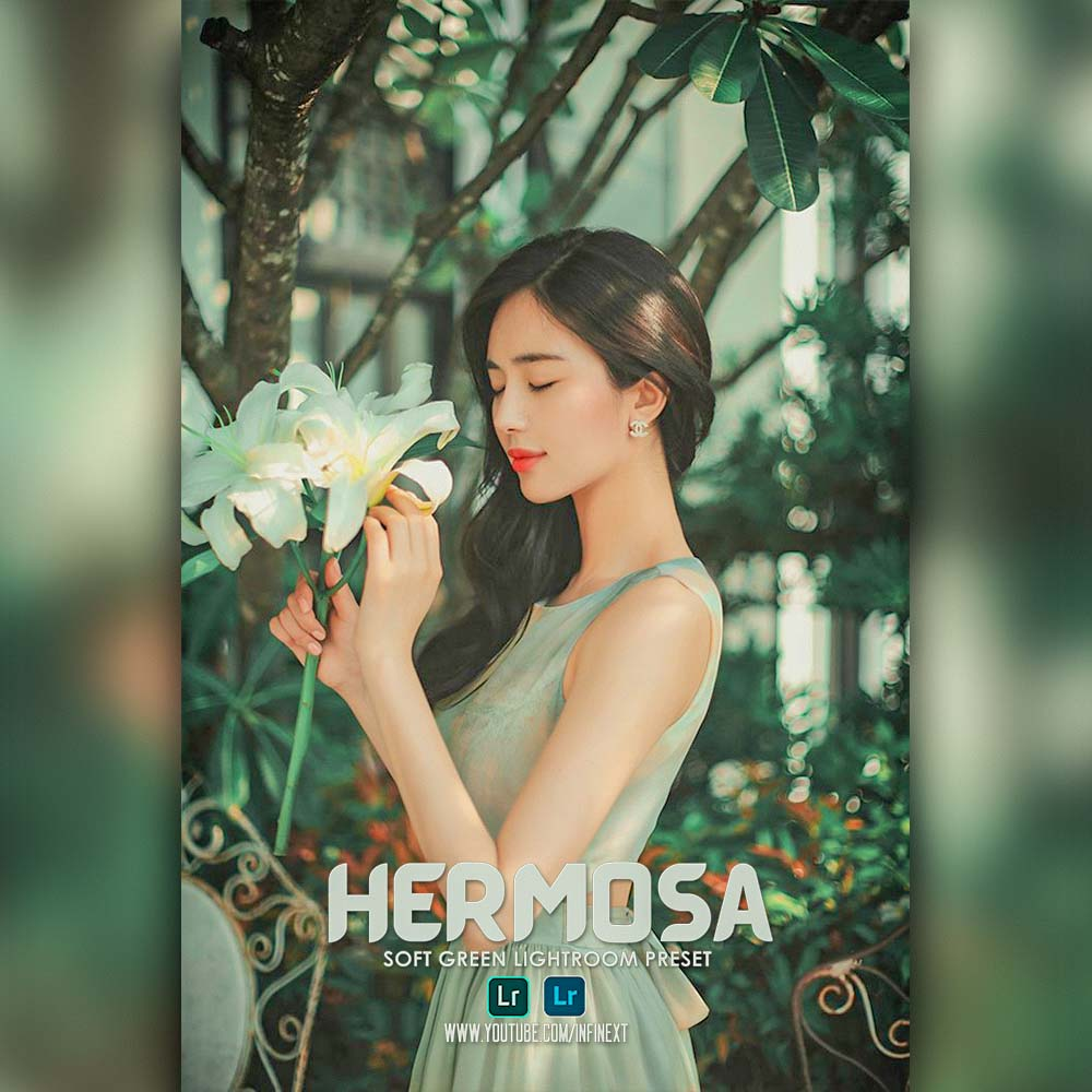 Hermosa inspired preset - Soft green lightroom pre Lightroom Preset