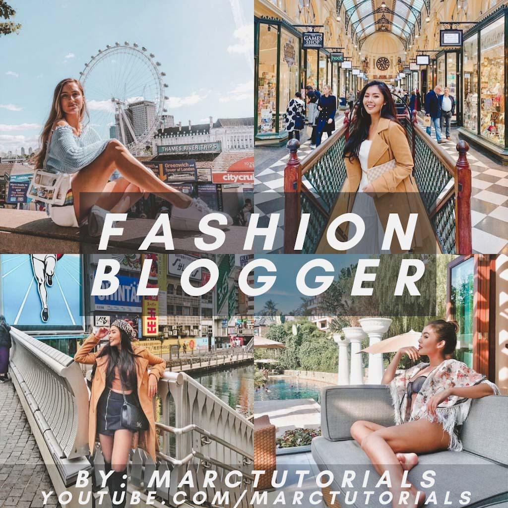 fashion blogger- Lightroom Preset