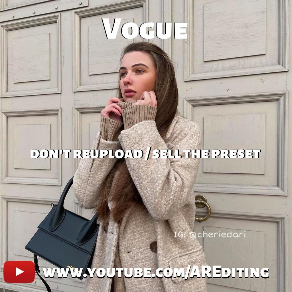 Vogue Preset!- Lightroom Preset