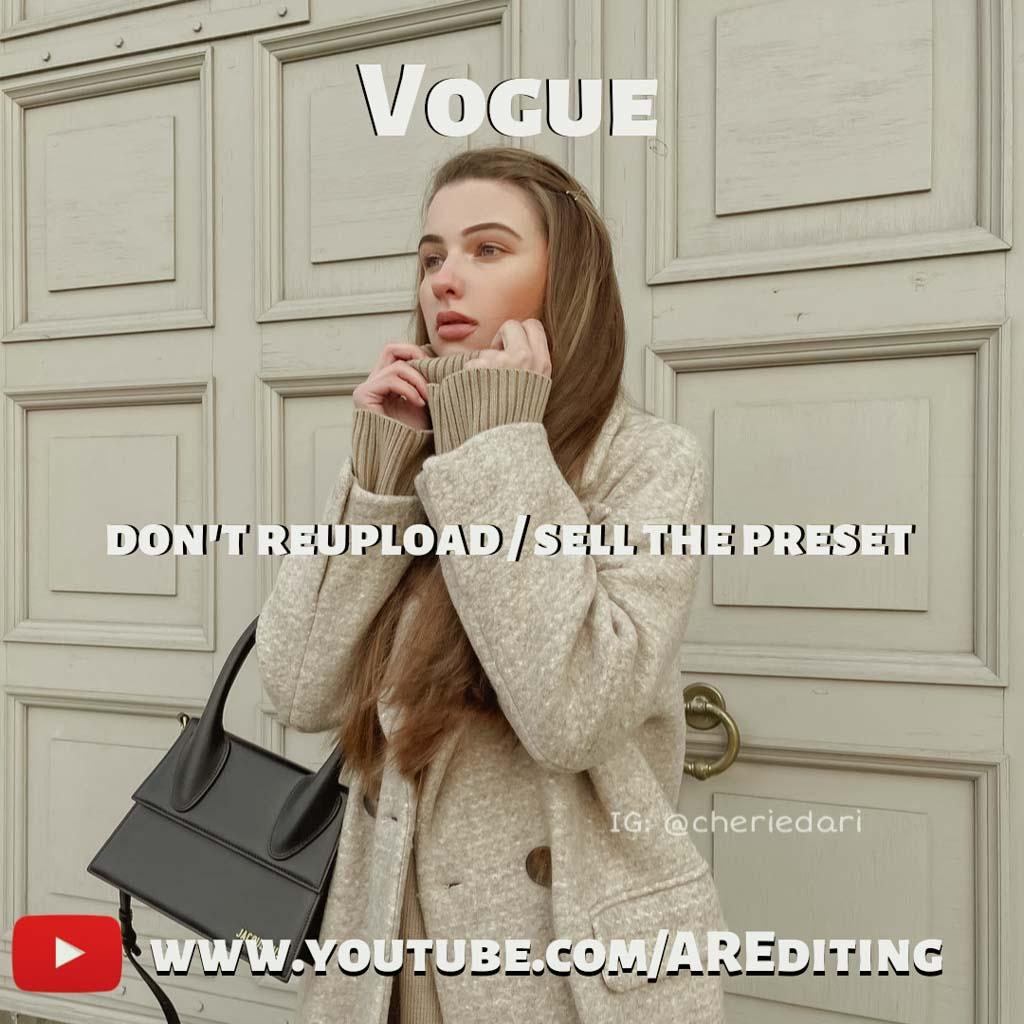Vogue Preset! Lightroom Preset