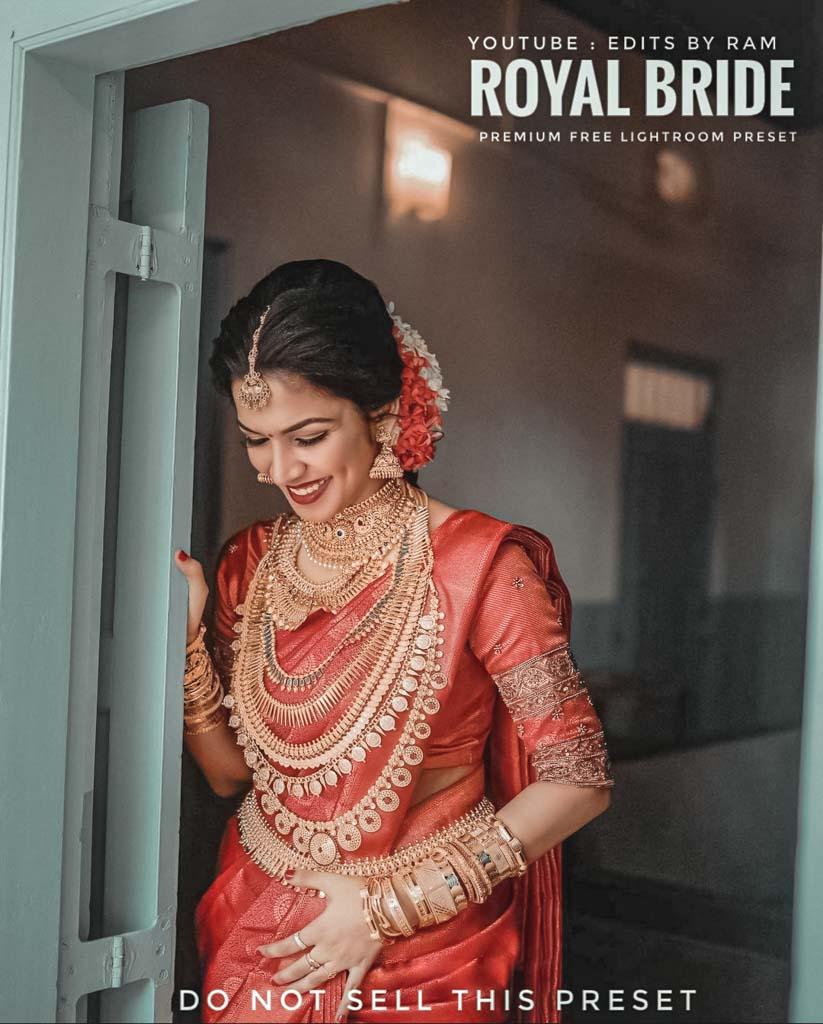 Royal Bride free lightroom preset Lightroom Preset