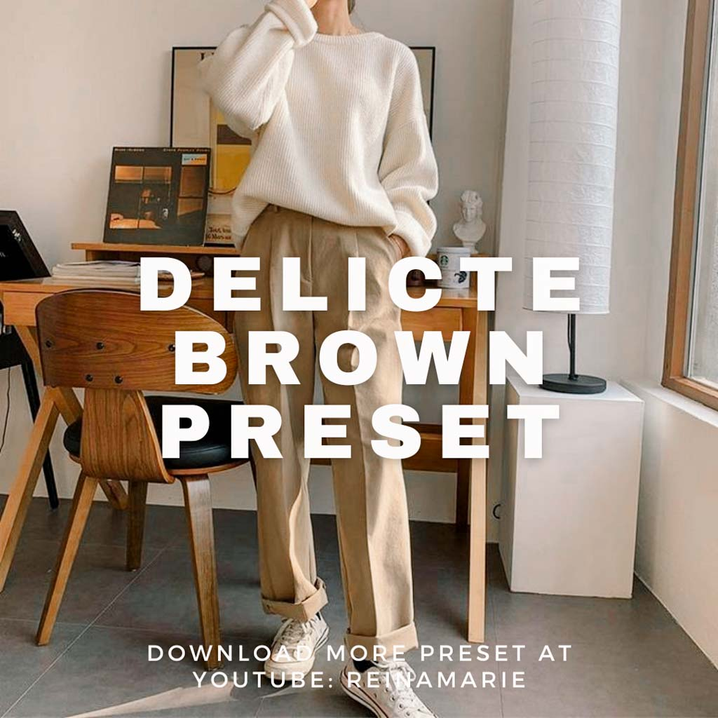 DELICATE BROWN PRESET Lightroom Preset