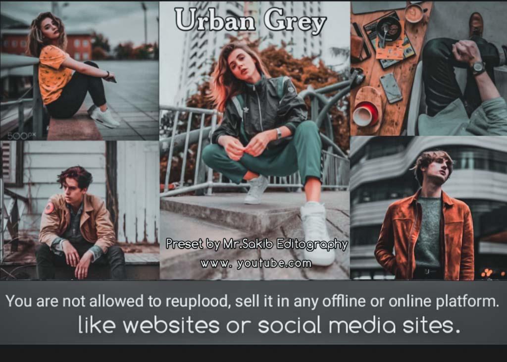 Urban Grey tone preset � Lightroom Preset
