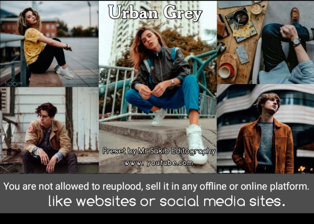 Urban Grey tone preset 😍- Lightroom Preset