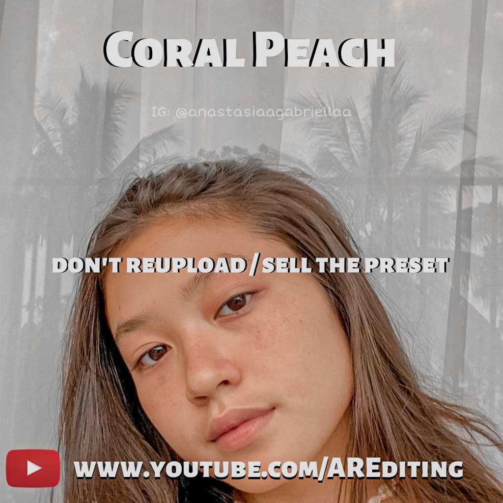 Coral Peach (Selfie) Preset! Lightroom Preset