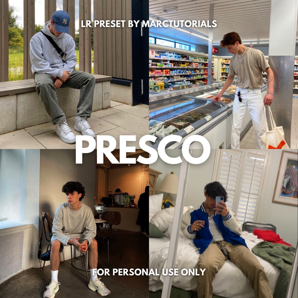 Presco Preset - Lightroom Mobile Aesthetic Light P- Lightroom Preset