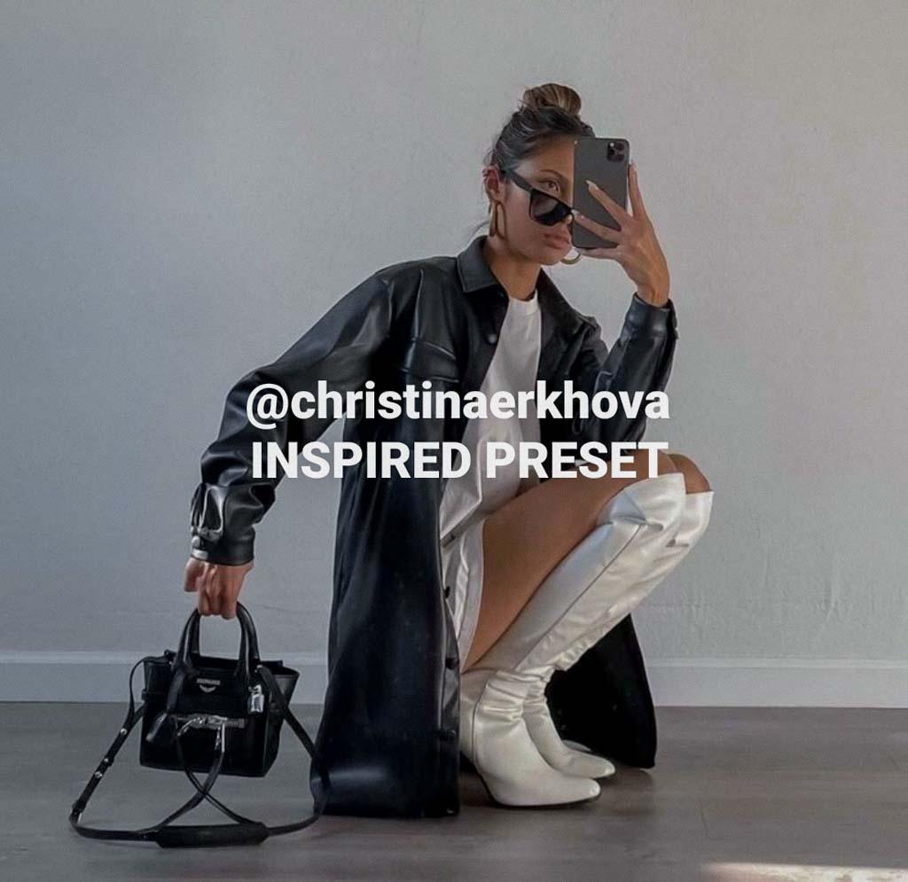 @christinaerkhova inspired Lightroom Preset