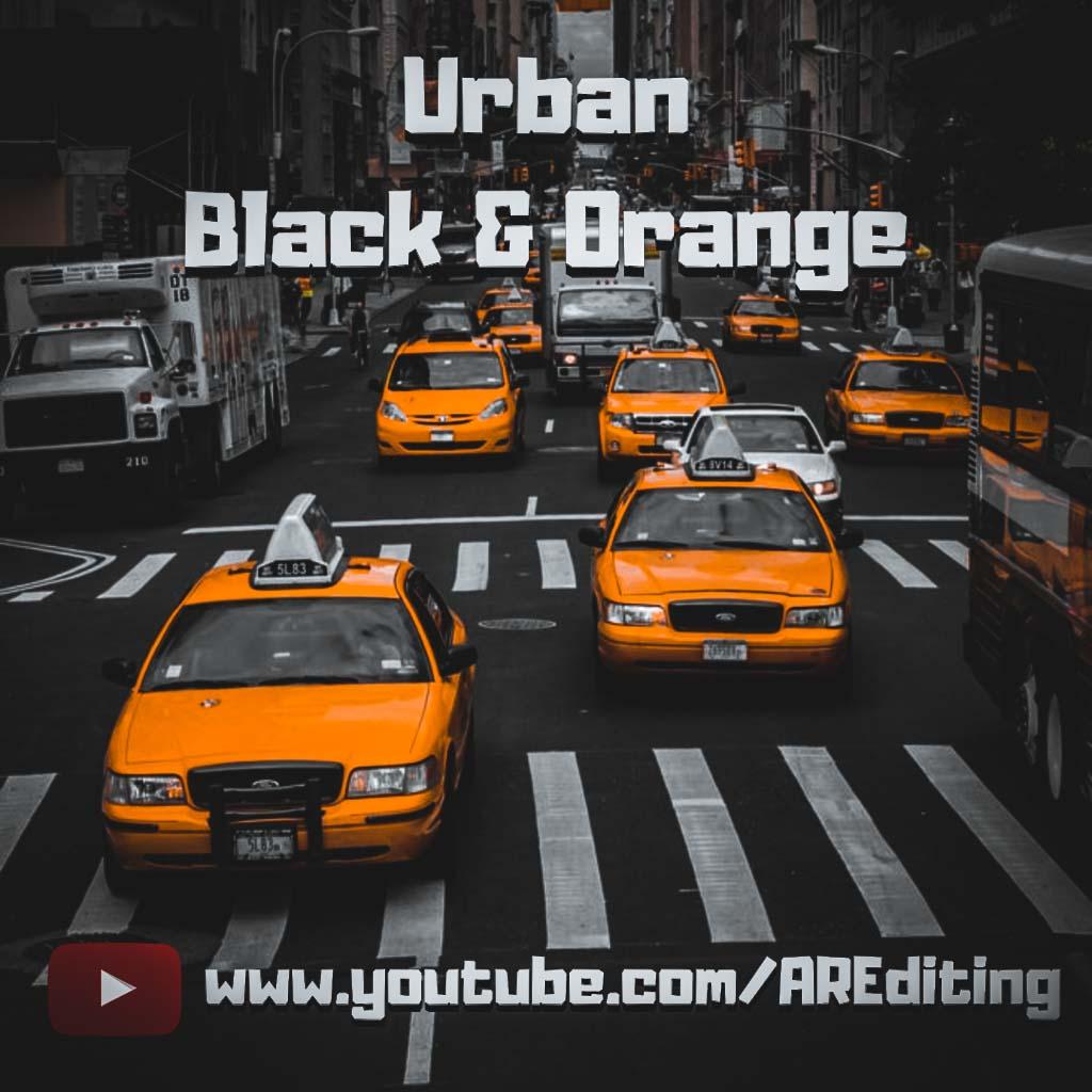 urban black and orange- Lightroom Preset