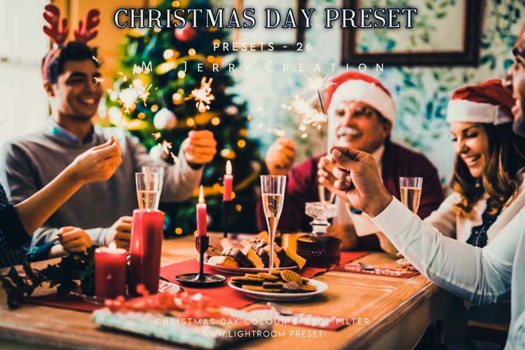 Christmas Day color effect tone by Jerry Creation Lightroom Preset