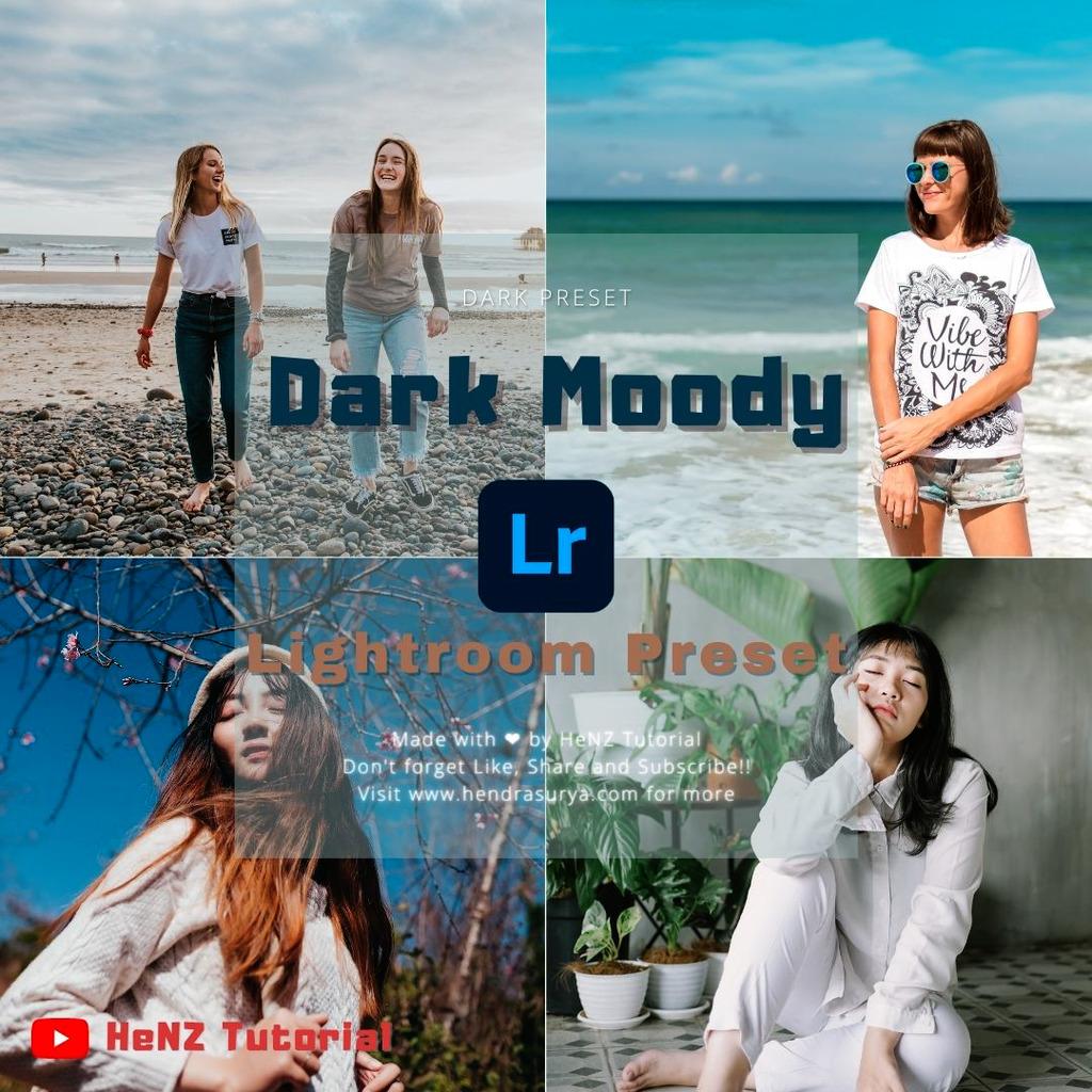 Dark Moody Lightroom Preset- Lightroom Preset