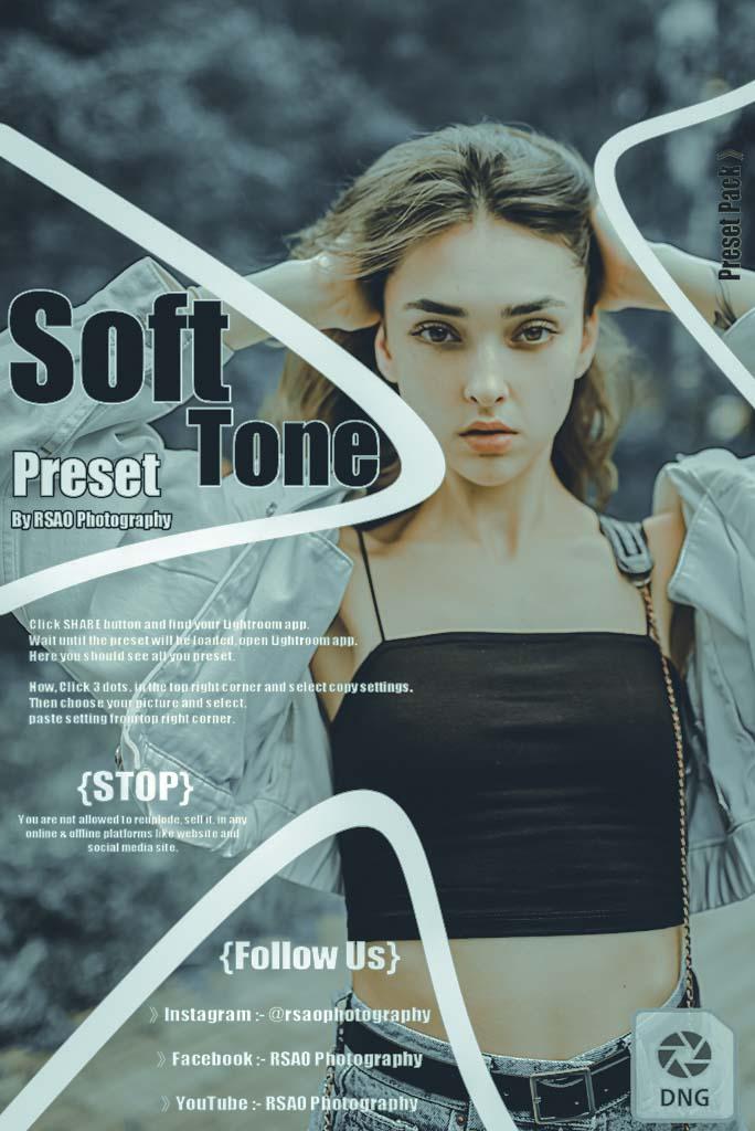 Soft Tone Preset. Lightroom Preset