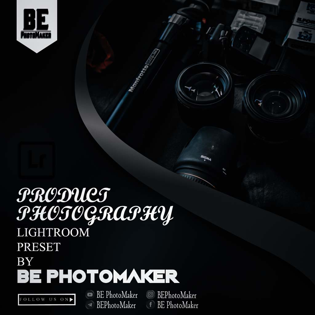 Product Photography preset by BE PhotoMaker Lightroom Preset