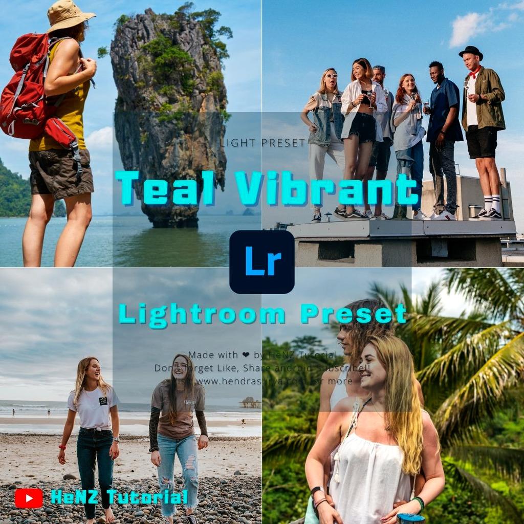 Teal Vibrant Lightroom Preset- Lightroom Preset