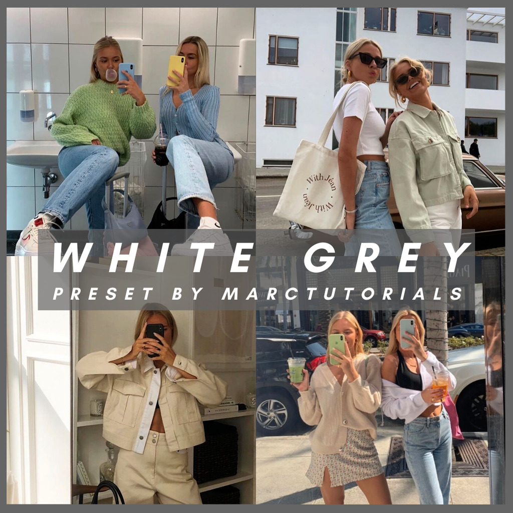 white grey- Lightroom Preset
