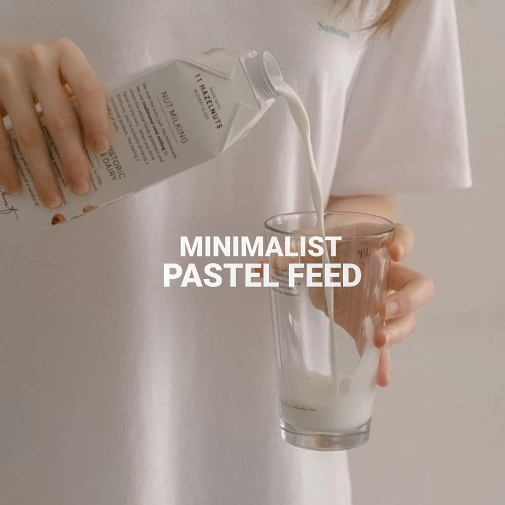 Minimalist Pastel Feed Lightroom Preset