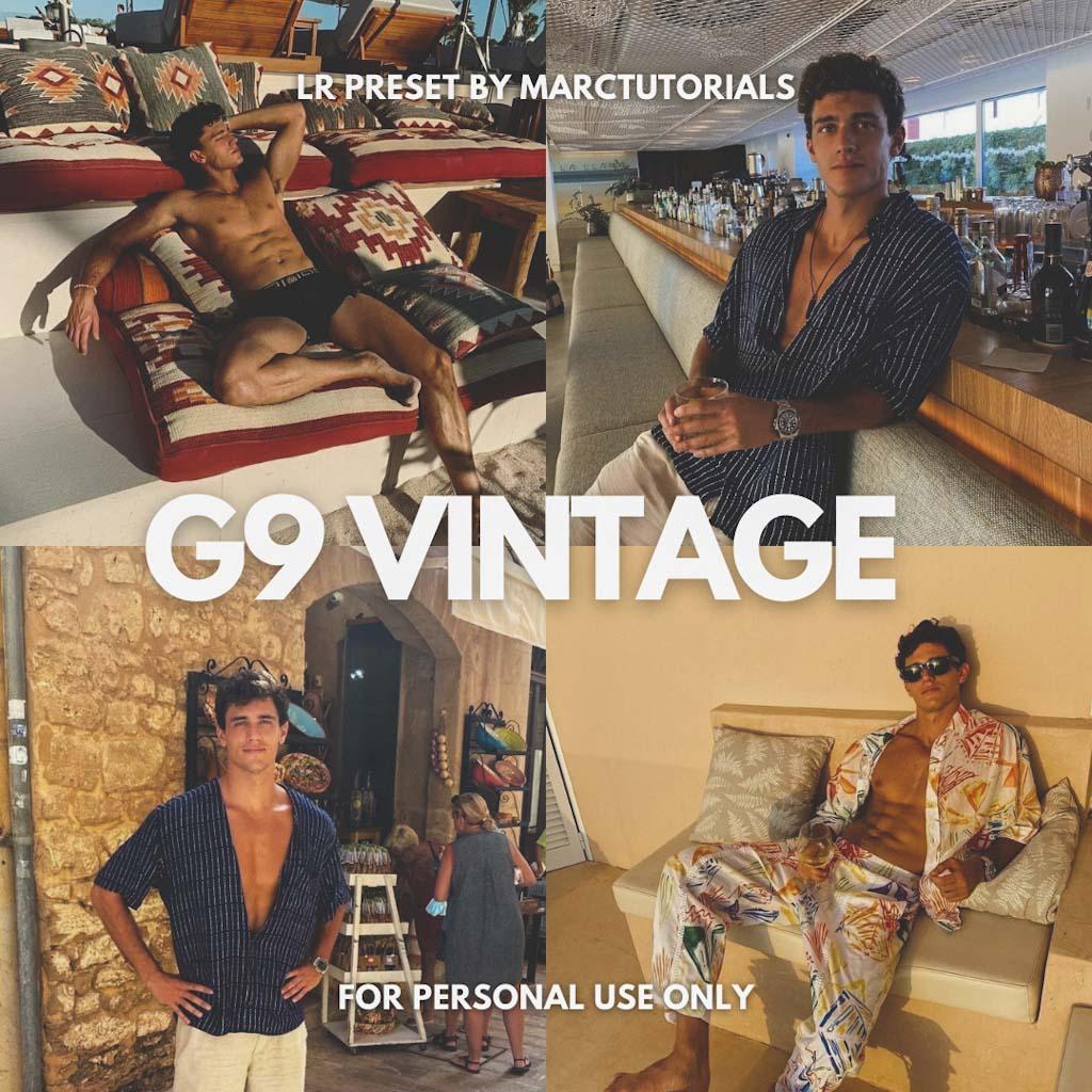 G9 Vintage Preset - Lightroom Mobile Aesthetic Vin Lightroom Preset