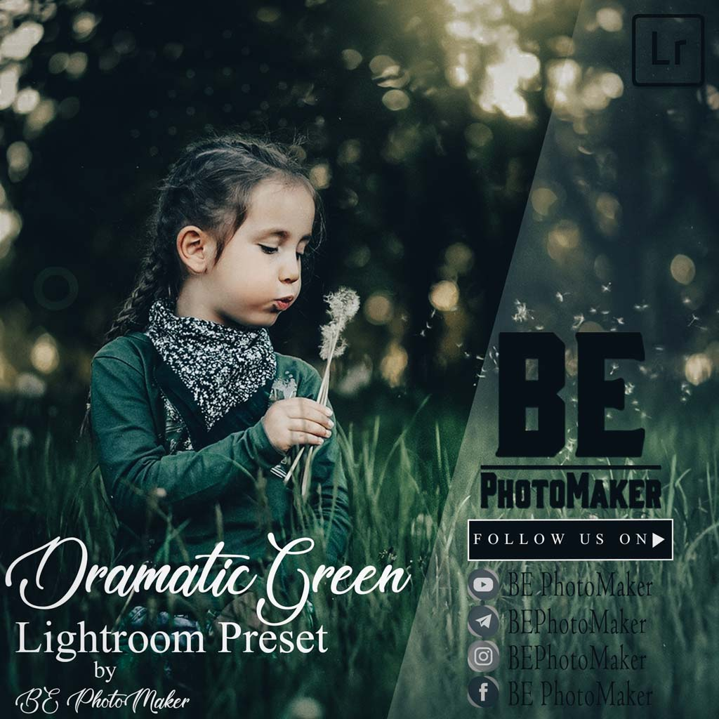 Dramatic Green Preset by BE PhotoMaker Lightroom Preset