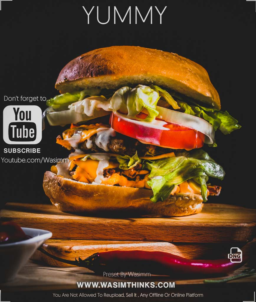 Yummy (food) Photography Preset Lightroom Preset