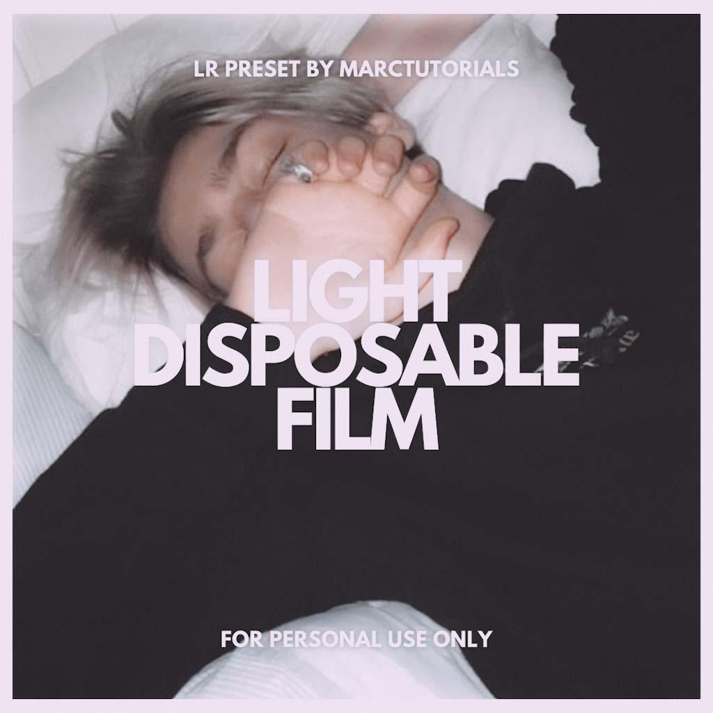 Light Disposable Film Lightroom Preset- Lightroom Preset