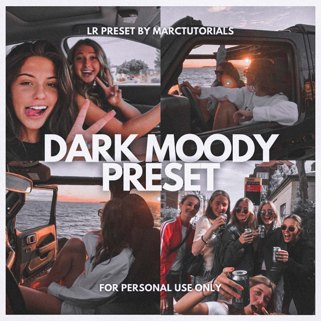 MOODY DARK LIGHTROOM PRESET- Lightroom Preset