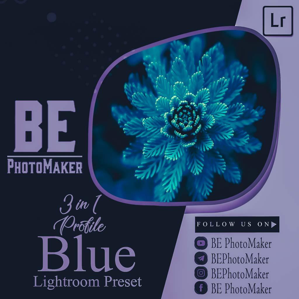 3 in 1 Profile Blue Preset by BE PhotoMaker Lightroom Preset