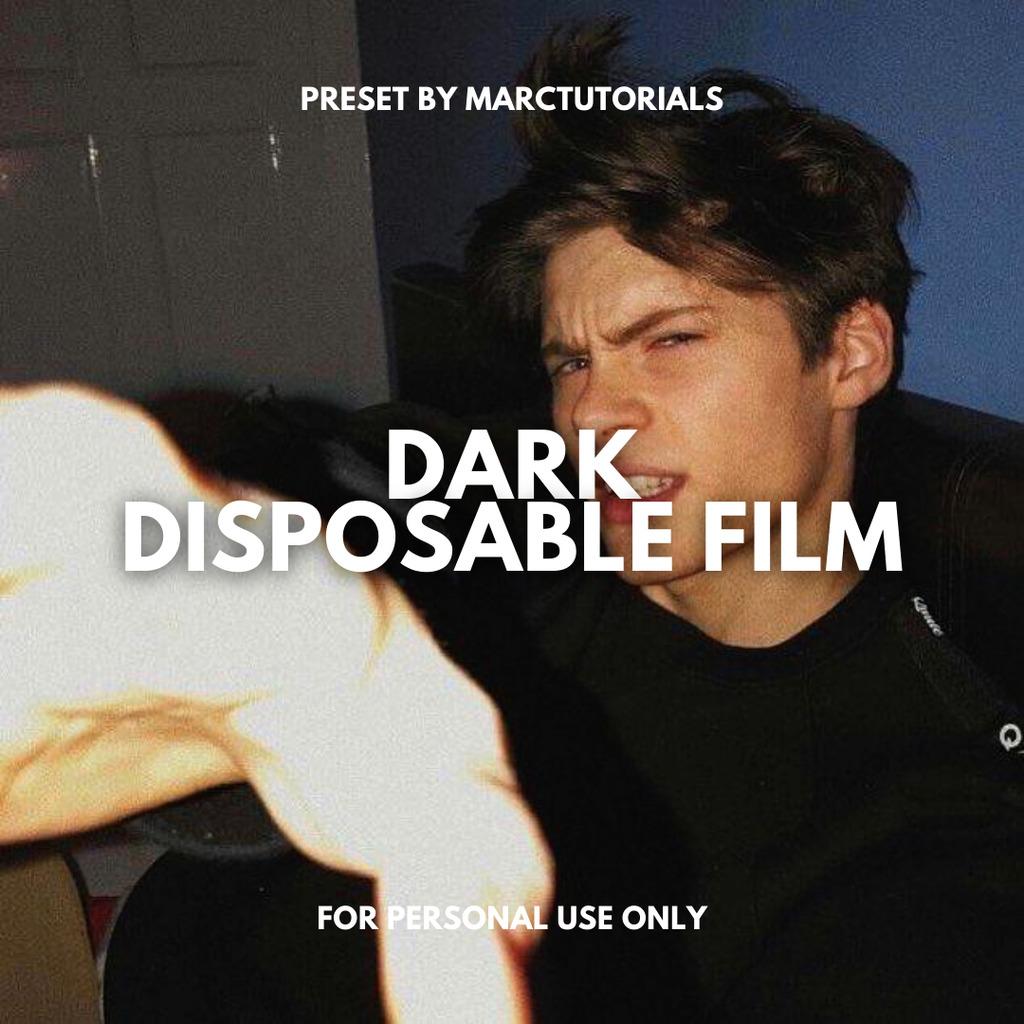 Dark Disposable Film Preset- Lightroom Preset