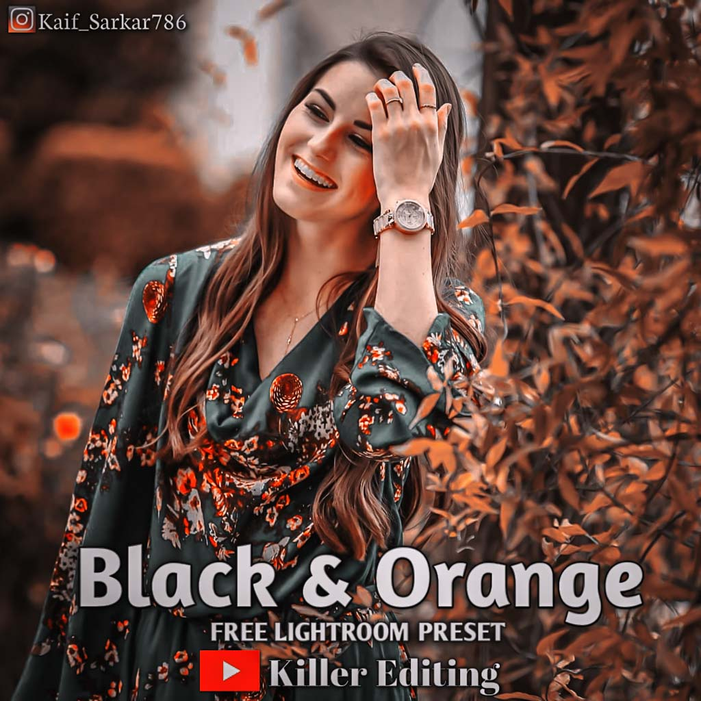 Black and Orange Lightroom Preset
