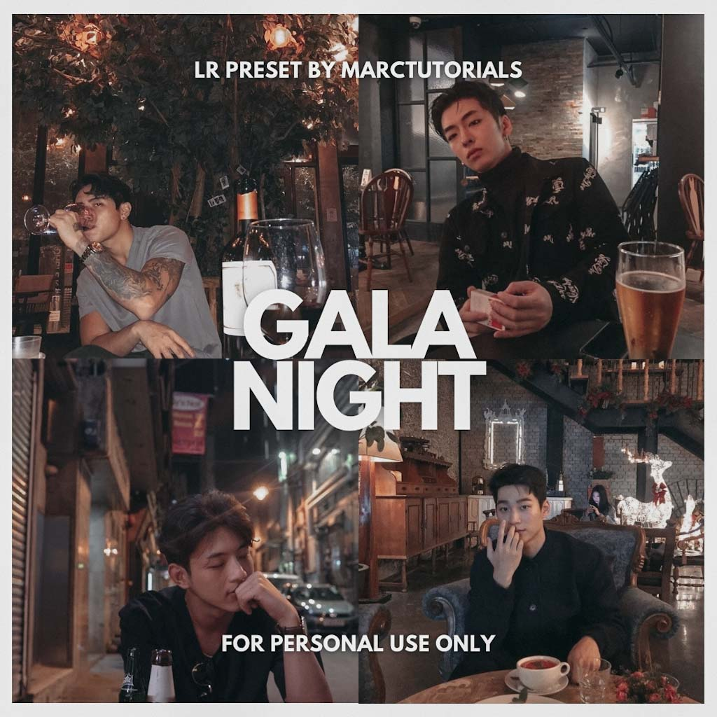 GALA NIGHT LIGHTROOM PRESET- Lightroom Preset