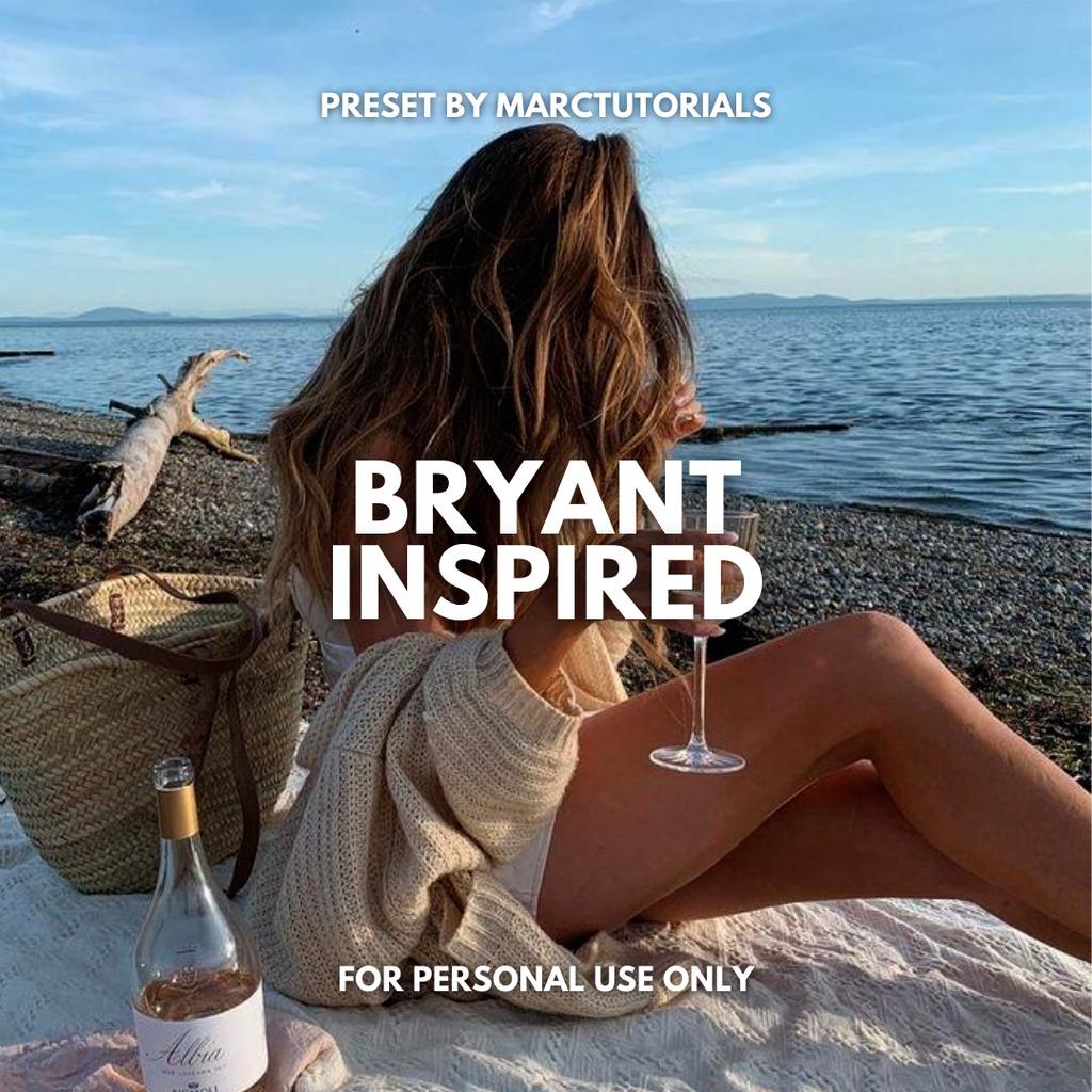 Bryant Inspired Preset- Lightroom Preset