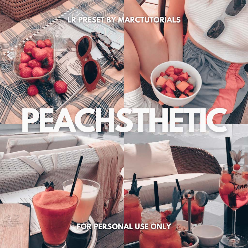 Peachsthetic Preset - Lightroom Mobile Aesthetic P Lightroom Preset